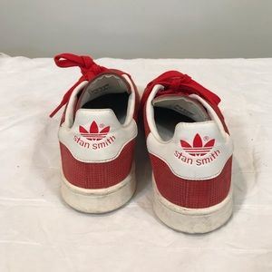 adidas Shoes - Adidas Stan Smith shiny red sneakers